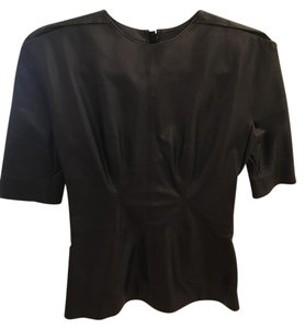 Lanvin Leather Going Out Top Black