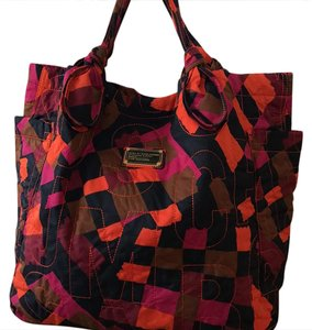 Marc by Marc Jacobs Tote in multi: navy, magenta, orange, chestnut