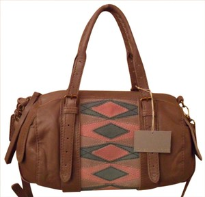 Isabella Fiore Bianca Leather Satchel in Brown