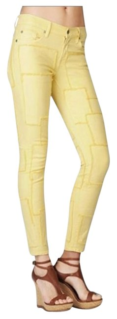 Item - Pale Yellow Skinny Jeans Size 25 (2, XS)