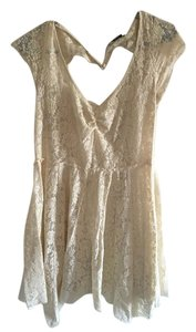 American Eagle Outfitters short dress Creme Lace Sweetheart Cream on Tradesy