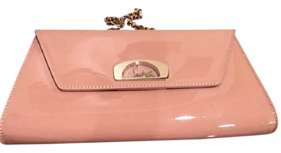 a3bbdc854ad Christian Louboutin 'vero Dodat' Nude Patent Leather Clutch - Tradesy