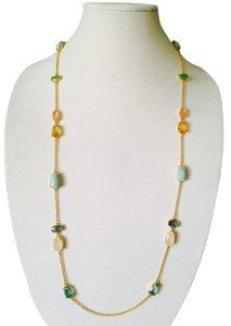 Ralph Lauren Semi-Precious Gemstones Scatter Long Necklace