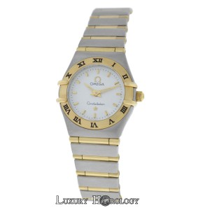 Omega Ladies Omega Constellation 22mm Two Tone 18K Gold Full Bar Steel