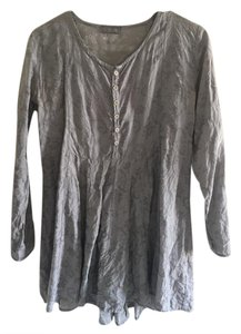 Anthropologie Vintage Pleated Hi Lo Tunic