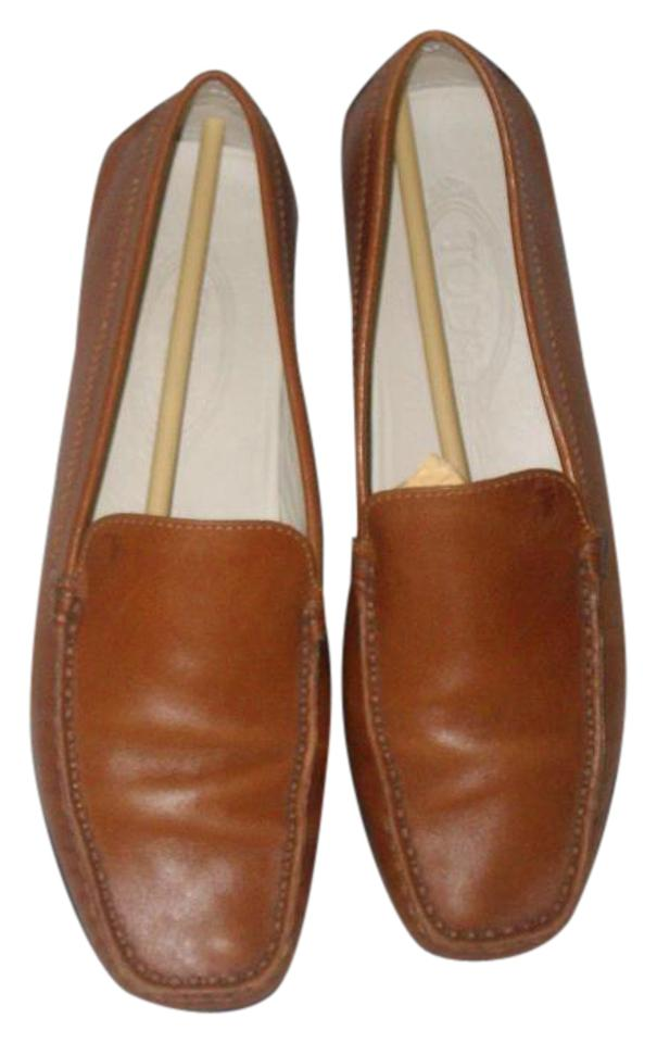 ladies Tod's Chestnut Leather Loafers price Flats Fair price Loafers 7d543d