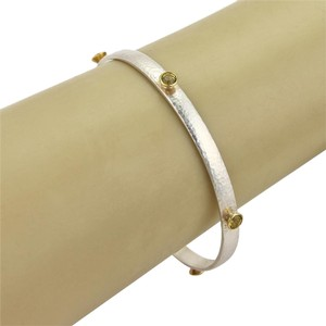 GURHAN Gurhan SKITTLE 1.61ct Khaki Topaz Sterling Silver & 24k Gold Bangle