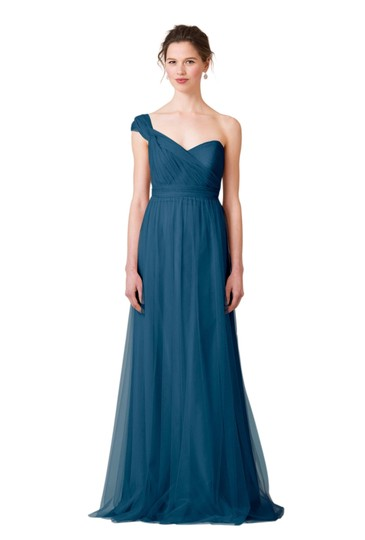 Jenny Yoo Lapis Blue/Navy Tulle Annabelle Bridesmaid/Mob Dress Size 8 (M) Image 0