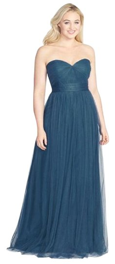 Jenny Yoo Lapis Blue/Navy Tulle Annabelle Bridesmaid/Mob Dress Size 8 (M) Image 1