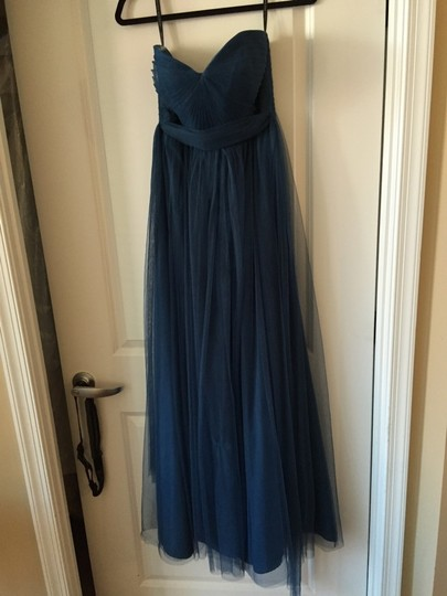 Jenny Yoo Lapis Blue/Navy Tulle Annabelle Bridesmaid/Mob Dress Size 8 (M) Image 2