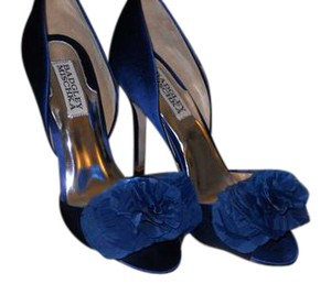 Badgley Mischka Blue Heels Open Toed Wedding Navy Formal