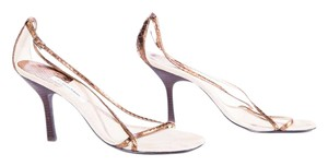 Calvin Klein Open Toe Bronze Tan Sandals