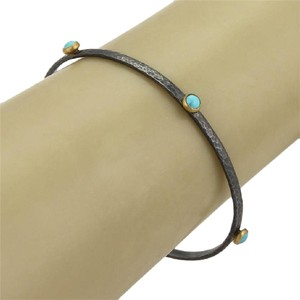 GURHAN Gurhan SKITTLE Darkened Sterling Silver 24k Yellow Gold Turquoise Bang