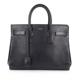 Saint Laurent Leather Tote in Blue