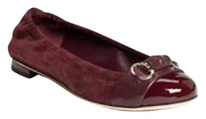 Gucci Patent Leather Horsebit Loafers Driving Piccadilly Burgundy Flats