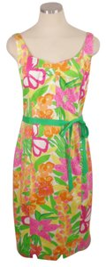 Lilly Pulitzer short dress Multi color Floral Stretchy on Tradesy