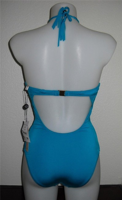 Nanette Lepore Blue Azure Tahiti Lovers One Piece Swimsuit