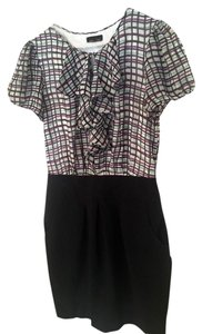 Max and Cleo Silk Pencil Checkered Fitted Dress