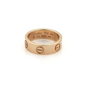 Cartier Love 18k Rose Gold 5.5mm Wide Band Ring Size 49- US 5