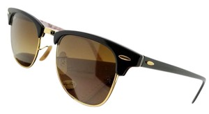 Ray-Ban RB3016-101785 Clubmaster Unisex Black Frame Brown Lens Sunglasses