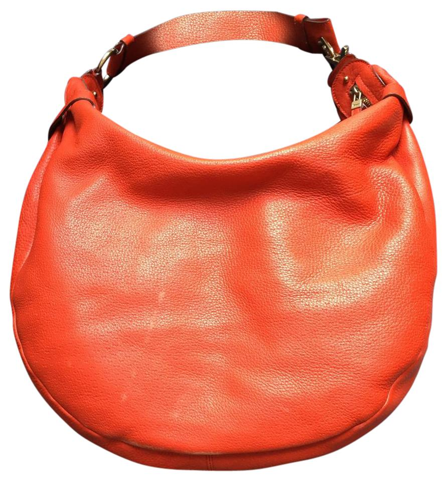 70b74ff8166c Salvatore Ferragamo Blood Orange Large Leather Gold Hardware Hobo Bag Image  0 ...