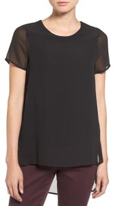 Vince Camuto Chiffon Whispy Top Black