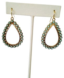 Ralph Lauren Turquoise Gold Teardrop Dangle Earrings