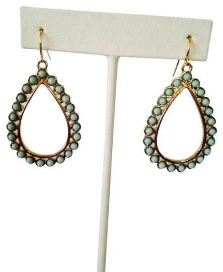 Preload https://img-static.tradesy.com/item/2110311/ralph-lauren-turquoise-gold-teardrop-dangle-earrings-0-0-540-540.jpg