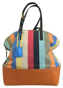 Fendi Striped Penguin Satchel in Multi-Color