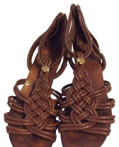 Tory Burch Woven brown Wedges