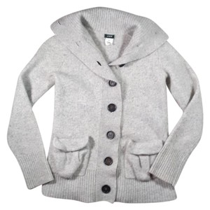 J.Crew Wool Cashmere Buttons Pockets Sweater