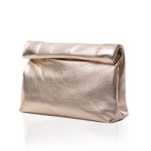 Marie Turnor Casual Los Angeles Summer Spring Bronze Clutch