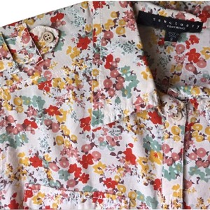 Sanctuary Clothing Campe Boho Floral Casual Airy Top Multi