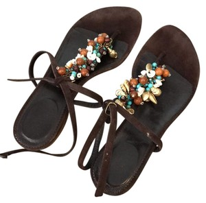 J.Crew brown suede and leather Sandals