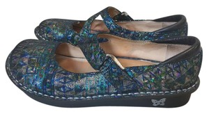 Alegria by PG Lite turquoise, blue, silver, orange Mules