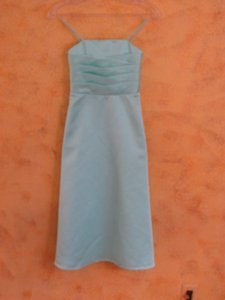 Alfred Angelo Seafoam Girl Flower 6333 (A28-11) Bridesmaid/Mob Dress Size 6 (S)