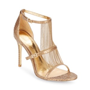 Vince Camuto Marston Chain-trimmed Gold Sandals