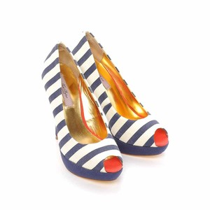 Ted Baker navy and white Pumps