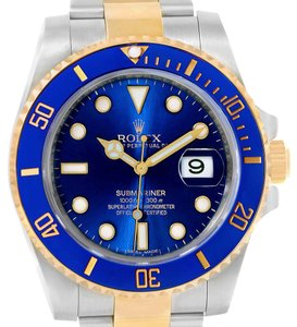 Rolex Rolex Submariner Blue Dial Steel Yellow Gold Automatic Watch 116613