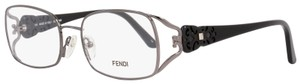 Fendi Fendi Rectangular Eyeglasses F872 035 Size: 54mm Gunmetal/Black 872