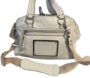 Dolce&Gabbana Miss Silky Leather Satchel in white