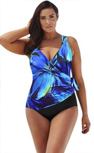 45997c1585 Longitude Blue W Gold Highlights Swimsuit 22w Black Lower One-piece Bathing  Suit.  45.99. US 22 (Plus 2x). Sold Out. Longitude Longitude  Blue Darling   One ...