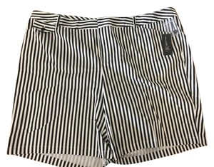 INC International Concepts Bermuda Shorts Black and White Striped