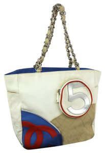 Chanel Tote in Red, White & Blue