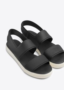 Vince Waterproof Platform Slingback Slip On Black Sandals