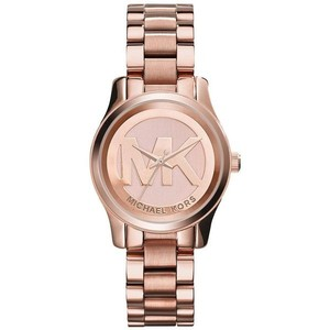 Michael Kors Michael Kors Women's Runway MK Logo Rose Gold Watch MK3334