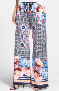 Clover Canyon Floral Print Flare Wide Pattern Wide Leg Pants
