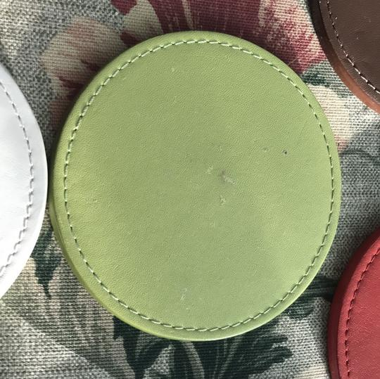 Coach COACH LEGACY HERITAGE MULTI COLORED EMBOSSED LEATHER COASTERS SET Image 10