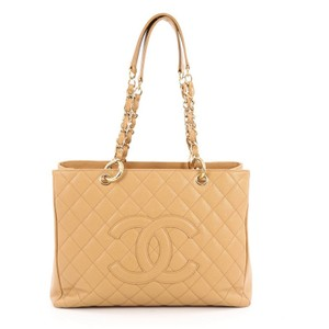 Chanel Leather Tote in Yellow