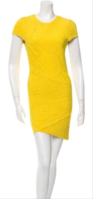 Preload https://img-static.tradesy.com/item/21104044/torn-by-ronny-kobo-yellow-ruched-short-night-out-dress-size-4-s-0-1-650-650.jpg